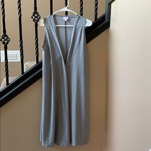 Gray LulaRoe Long Vest
